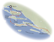 Dalmation Coast Croatia Map